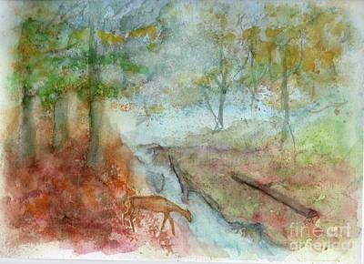 Art Print featuring the painting Blue Ridge Mountains Memories by Doris Blessington