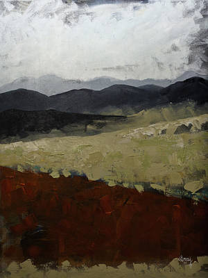 Painting - Blue Ridge Mountains Painting North Carolina by Gray Artus