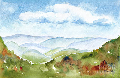 Blue Ridge Mountains Original by Pat Katz