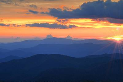 Photograph - Blue Ridge Mountains Sunrise by Frank G Montoya