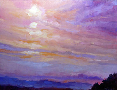 Painting - Blue Ridge Mountains Sunset 1.2 by Catherine Twomey