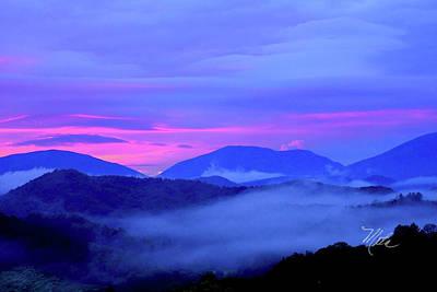 Blue Ridge Mountains Sunset Art Print