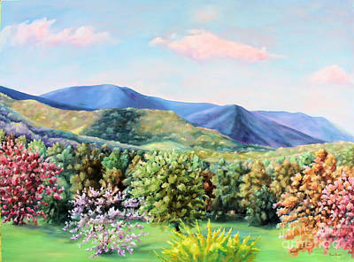 Maryland Wine Painting - Blue Ridge Mountains by Todd Bandy