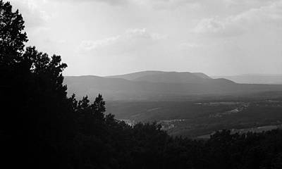Photograph - Blue Ridge Mountains Virginia Bw 4 by Frank Romeo
