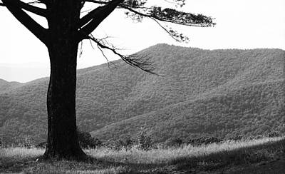 Photograph - Blue Ridge Mountains Virginia Bw 6 by Frank Romeo