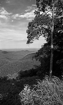 Photograph - Blue Ridge Mountains - Virginia Bw 10 by Frank Romeo
