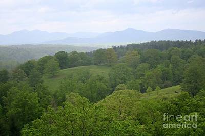 Photograph - Blue Ridge Mountains With Green Hills by Carol Groenen