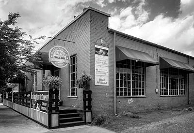 Blue Photograph - Blue Ridge Olive Oil Company In Black And White by Greg Mimbs