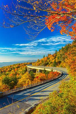 Little Mosters - Blue Ridge Parkway - Autumn at Linn Cove Viaduct  by Jason Penland