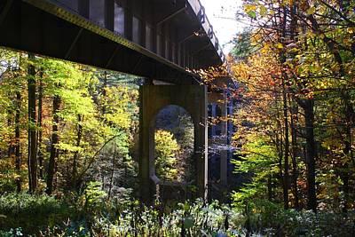 Photograph - Blue Ridge Parkway Bridge by Kathryn Meyer