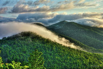 Blue Ridge Parkway Cloud Waves At Sunrise Art Print by Reid Callaway