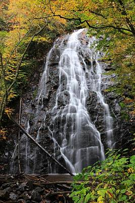 Photograph - Blue Ridge Parkway Crabtree Falls In Autumn by Carol Montoya