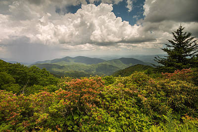 Photograph - Blue Ridge Parkway Green Knob Overlook by Rick Dunnuck