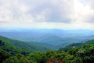Print featuring the photograph Blue Ridge Parkway Overlook by Meta Gatschenberger