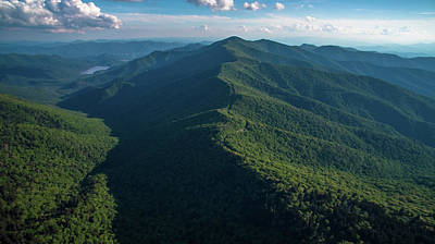 Mitchell Butte Photograph - Blue Ridge Parkway Shadow by Ryan Phillips
