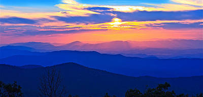 Photograph - Blue Ridge Parkway Sunset, Va by The American Shutterbug Society