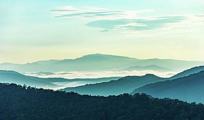 Photograph - Blue Ridge Pastel by Louise Lindsay
