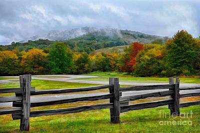 Boone Painting - Blue Ridge Picnic Ap by Dan Carmichael