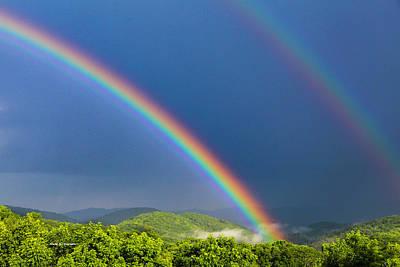 Photograph - Blue Ridge Rainbow by Dale R Carlson