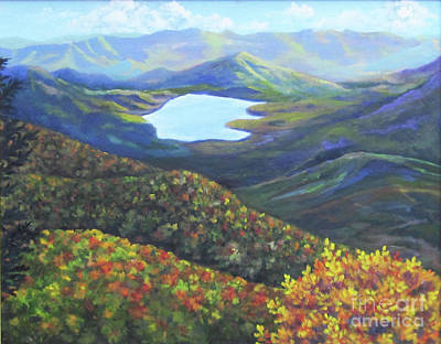 Painting - Blue Ridge Resevoir by Anne Marie Brown