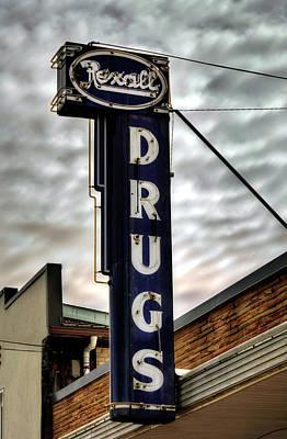 Photograph - Blue Ridge Rexall Sign by Greg Mimbs