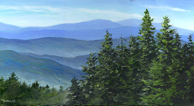 Painting - Blue Ridge by Richard De Wolfe