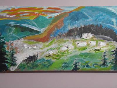 Smokey Mountains Painting - Blue Ridge Sheep Bald by Max Bowermeister