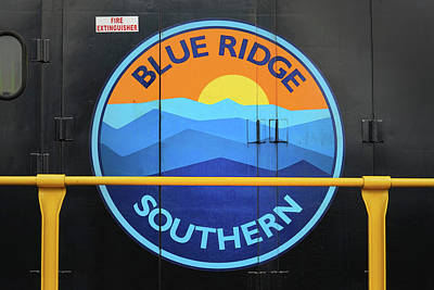 Photograph - Blue Ridge Southern Emblem by Mike McGlothlen