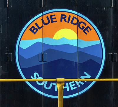 Photograph - Blue Ridge Southern Logo 10 Color by Joseph C Hinson Photography