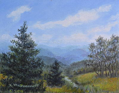 Painting - Blue Ridge Stream by Kathleen McDermott