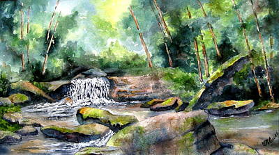 Painting - Blue Ridge Stream by Mary McCullah