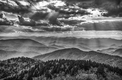Blue Ridge Sunbeams Art Print