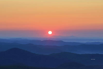 Blue Ridge Sunrise Art Print by Dale R Carlson