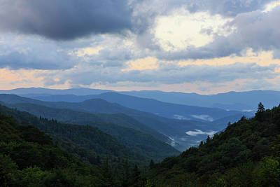 Tennesee Photograph - Blue Ridge Sunrise by Bryan Bzdula