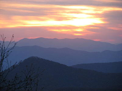 Photograph - Blue Ridge Sunset  by April Camenisch