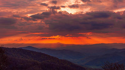 Photograph - Blue Ridge Sunset by Brenda Jacobs
