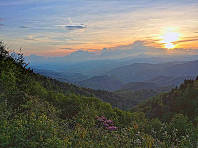 Photograph - Blue Ridge Sunset by Carol Montoya