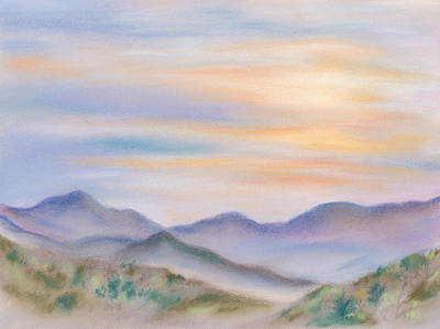 Pastel - Blue Ridge Sunset In Spring by MM Anderson