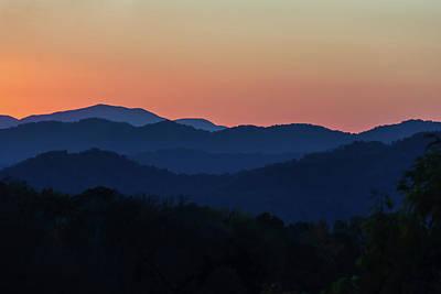 Photograph - Blue Ridge Sunset by Louise Lindsay