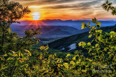 Photograph - Blue Ridge Sunset by Thomas R Fletcher
