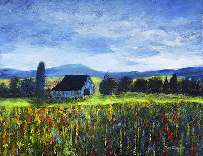 Blue Ridge Valley Art Print