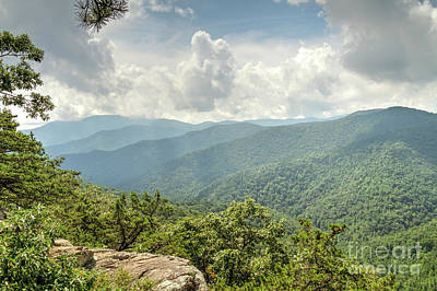 Photograph - Blue Ridge View by David Cutts