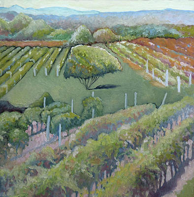 Painting - Blue Ridge Vineyards 4.0 by Catherine Twomey