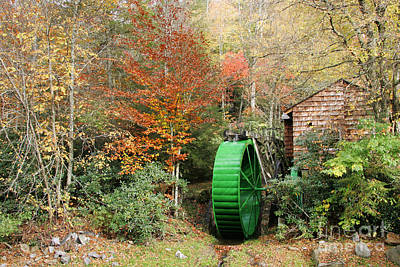 Blue Ridge Waterwheel Art Print by Stan and Anne Foster