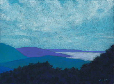 Pastel - Blue Ridges 3 by Anne Katzeff