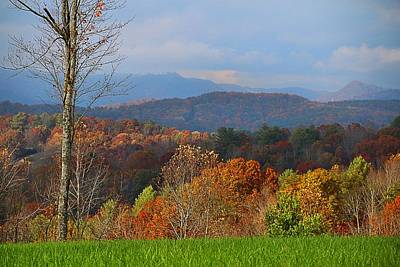 Photograph - Blue Ridges From Deer Road by Kathryn Meyer