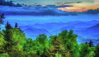 Blue Ridges Great Smoky Mountains North Carolina Art Print by Reid Callaway