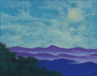 Pastel - Blue Ridges Mist 1 by Anne Katzeff