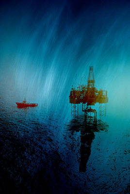 Blue Rig Art Print by Andy Wilson