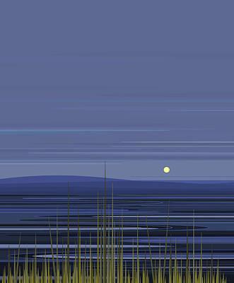 Digital Art - Blue Ripples by Val Arie